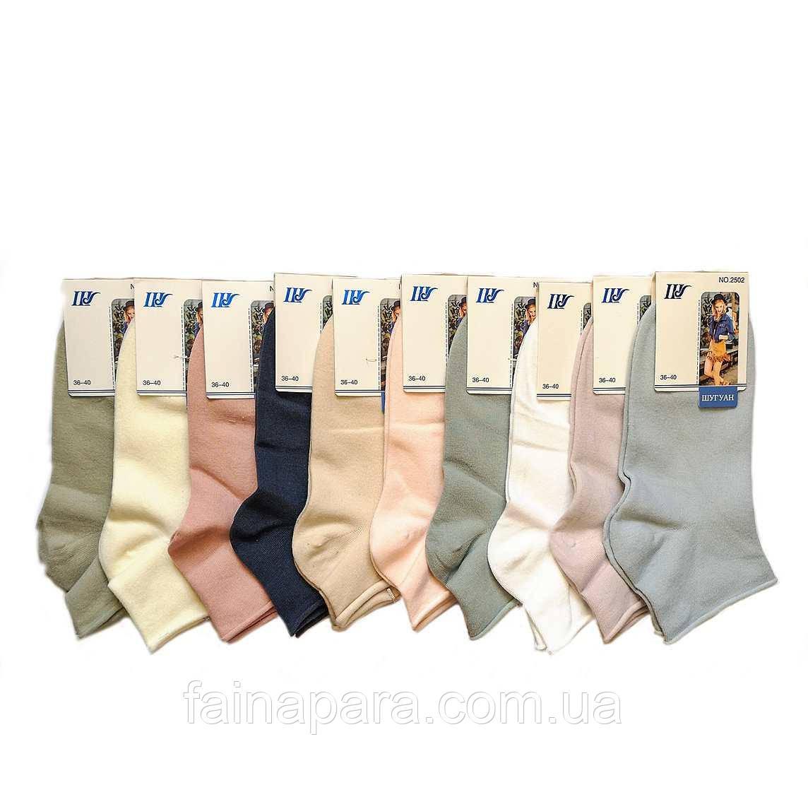 Короткие женские носки без резинки