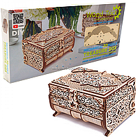 Деревянный конструктор Wood Trick 3d пазл Шкатулка, декорированная кристаллами Swarovski, 192 дет (4820195191033), фото 1