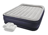 Надувная кровать Intex 64136-2, 152 х 203 х 42, встроенный электронасос, подушкаи. Двухспальная