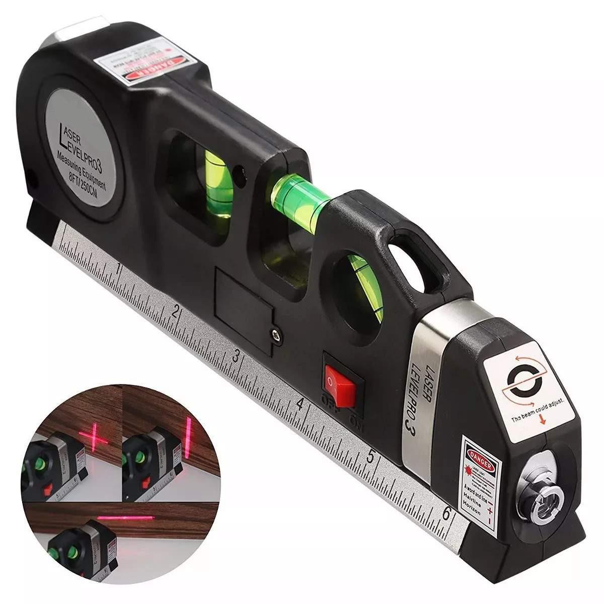 Лазерный уровень со встроенной рулеткой Laser LEVELPRO3 180299