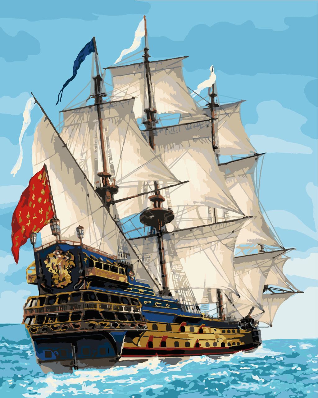 Картина по номерам Идейка Королевский флот 40*50 см (без коробки) арт.KHO2729