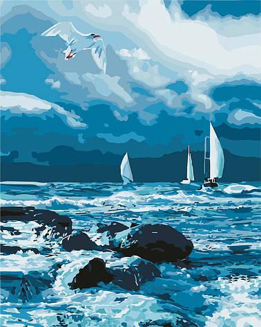 Картина за номерами Ідейка Вітрильники на морі 40*50 см арт.KHO2747, фото 2