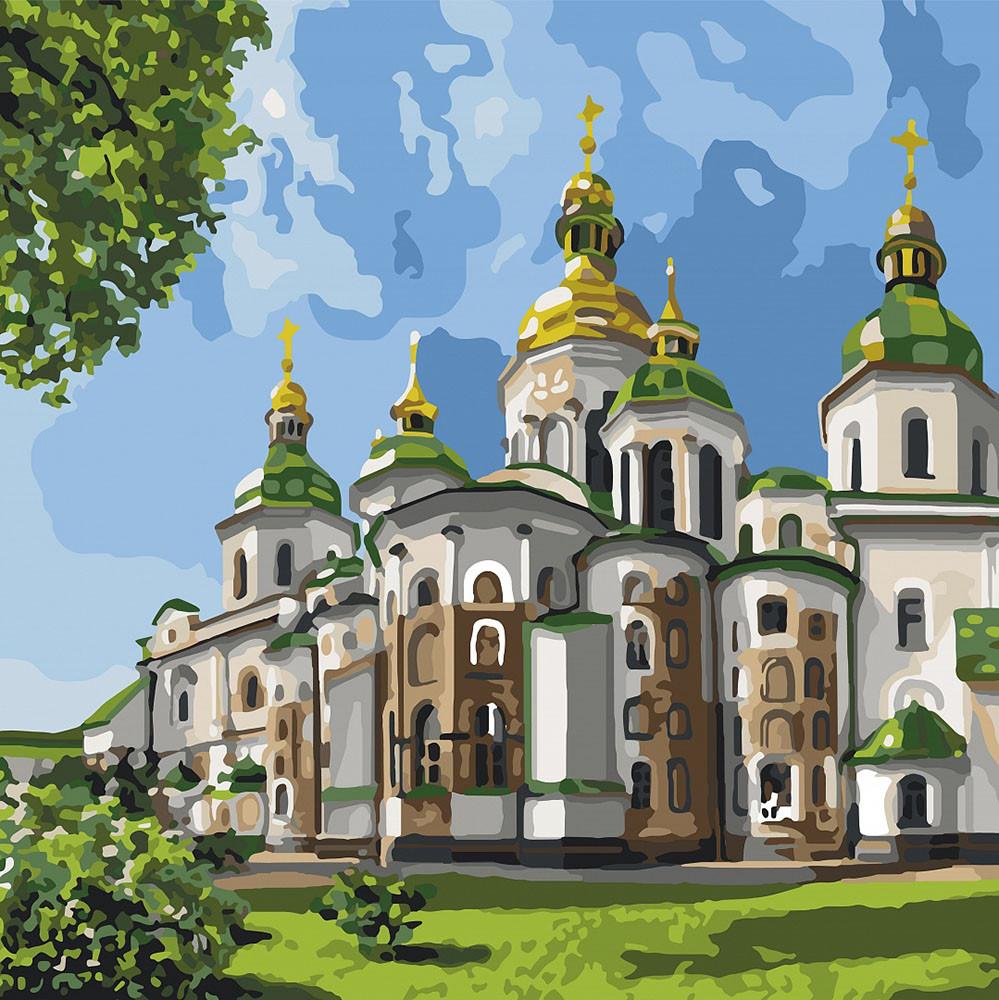 Картина за номерами Ідейка Софія Київська 30*30 см арт.KHO2832