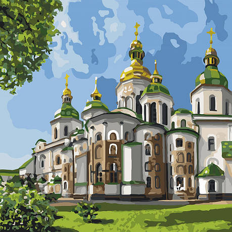 Картина за номерами Ідейка Софія Київська 30*30 см арт.KHO2832, фото 2