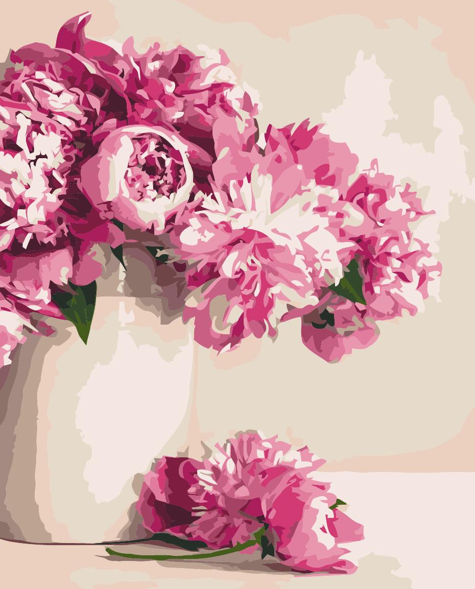 Картина по номерам Идейка Бархатные пионы 40*50 см (без коробки) арт.KHO2931