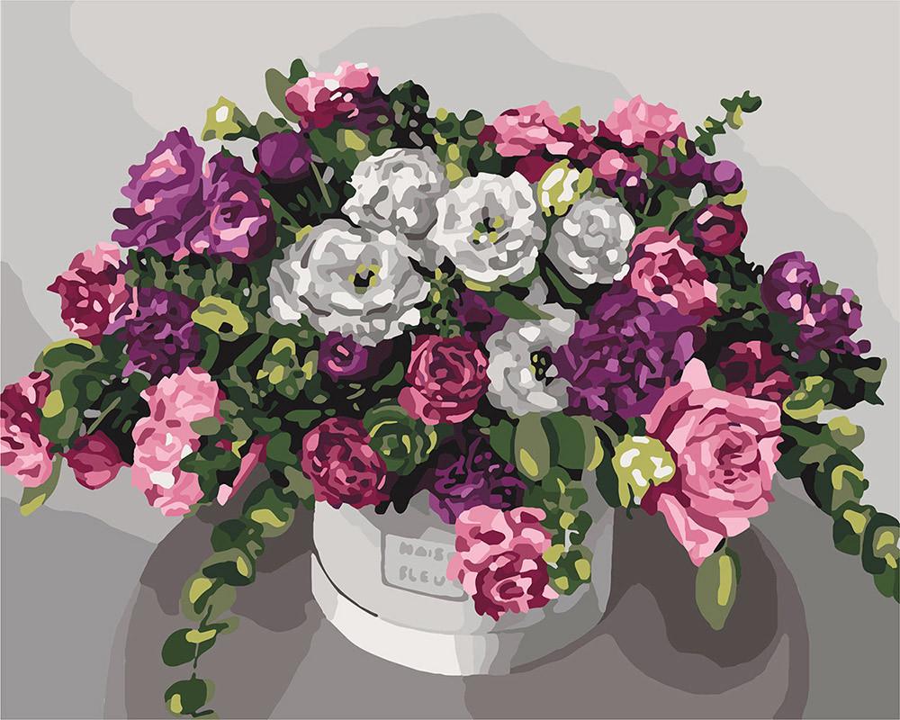 Картина по номерам Идейка Роскошный букет 40*50 см (без коробки) арт.KHO3074