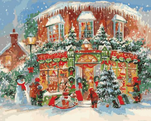 Картина по номерам Идейка Рождественский городок 40*50 см (без коробки) арт.KHO3533