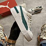 Женские кроссовки Puma Cali Sport Heritage White/Teal, женские кроссовки пума кали спорт, фото 5