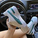 Женские кроссовки Puma Cali Sport Heritage White/Teal, женские кроссовки пума кали спорт, фото 3