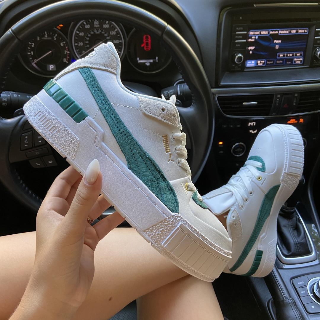 Женские кроссовки Puma Cali Sport Heritage White/Teal, женские кроссовки пума кали спорт