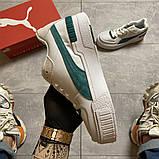 Женские кроссовки Puma Cali Sport Heritage White/Teal, женские кроссовки пума кали спорт, фото 7