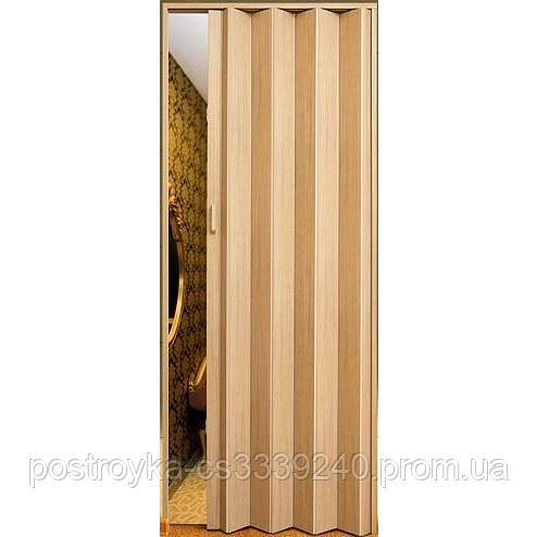 Двері гармошка Vinci Decor Мускатний горіх міжкімнатні глухі