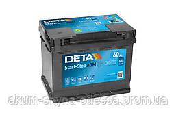 Аккумулятор DETA AGM Start Stop 6ст-60 Ач АзЕ R+ DK 600 680En