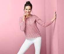Шикарная хлопковая блуза, рубашка с вышивкой от тсм tchibo (чибо), германия, размер укр 48-50