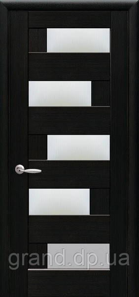 Межкомнатные двери Новый Стиль Пиана ПВХ DeLuxe со стеклом сатин, цвет Венге new