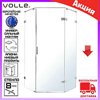 Пятиугольная душевая кабина 90х90 см Volle Nemo 10-22-170Rglass  дверь распашная