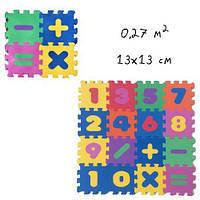Коврик-пазл Веселая математика, 16 элементов  sco