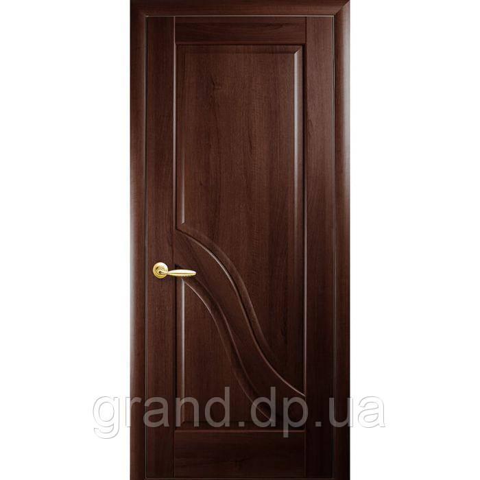 Двери межкомнатные Новый стиль Амата глухая , цвет каштан
