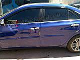 Дефлекторы окон (ветровики) Toyota Camry v55 2015-2017 (Американка), фото 3