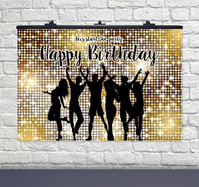 "Плакат для свята ""Birthday Party"" 75 СМ Х 120 СМ"