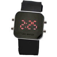 Часы наручные 1005 LED бел. корп.,электронные наручные часы, женские наручные часы, мужские часы, фото 1
