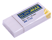 Гумка BUROMAX 50*23*9мм прямокутна, біла