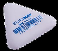 Гумка Buromax 37*37*9мм трикутна, біла