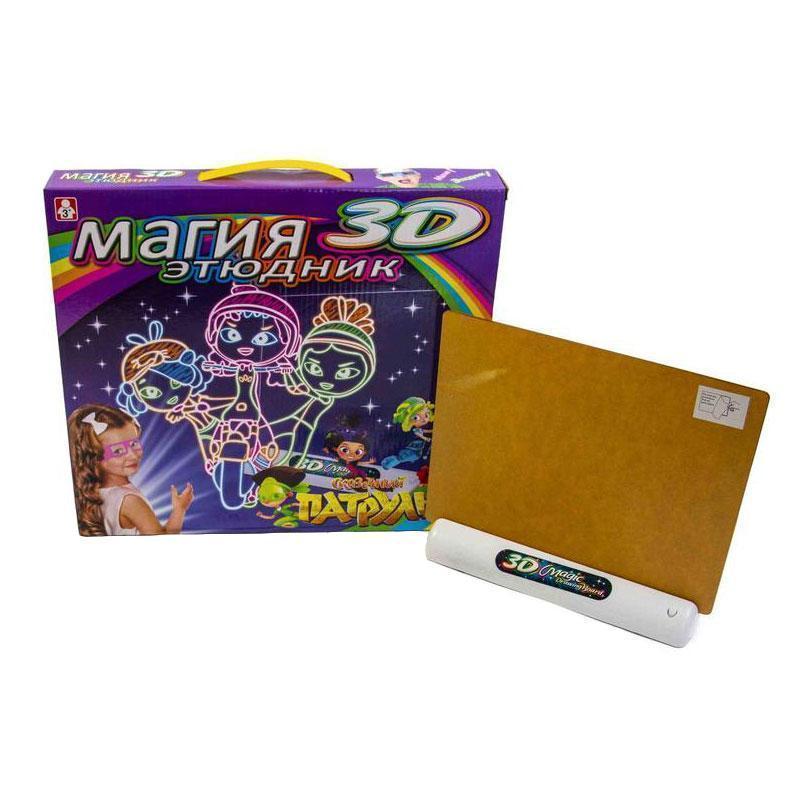 Детская электронная доска для рисования маркером 3D Magic Drawing Board - сказочный патруль