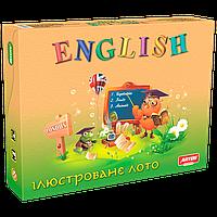 Детское лото на английском языке ENGLISH иллюстрированное настольная игра Artos Games (10030009)