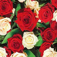 Подарочные пакеты розы размер 16х16 см (6 шт/уп)