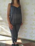 Женский летний костюм с кружевом и стразами, фото 3
