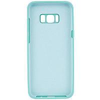 Чехол Silicone Cover Full Protective (AA) для Samsung G955 Galaxy S8 Plus Голубой / Light Blue