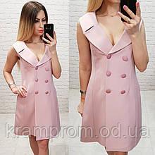 Оригинальное платье-пиджак на подкладке XL