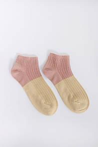Носки FAMO Носочки Терил пудровый+желтый 36-39 (#9232-1)