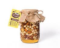 Натуральний мед з горіховим асорті (Натуральный мёд с ореховым ассорти) - 1400 г