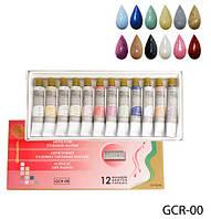 Художественные акриловые краски с блестками Lady Victory LDV GCR-00 /76-3
