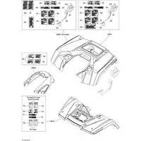 Обвес заднего крыла Can-Am BRP Kit rear fender