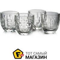 Прозрачный набор стаканов для кофе с резным узором - La Rochere Troquet 100мл, 4шт. (638001) ( ) - материал стекло