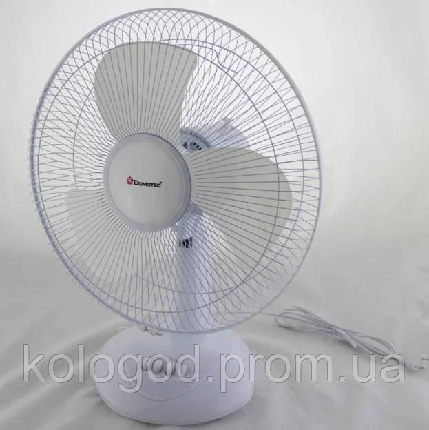 Настольный Вентилятор Domotec MS-1626 Fan 3 Режима Скоростей Мощность 40 Вт Диаметр 43 См