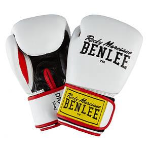 Перчатки боксерские Benlee DRACO 10oz /Кожа /бело-черно-красные (199116 (wht/blk/red) 10oz)
