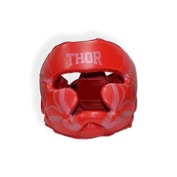 Шлем для бокса THOR COBRA 727 XL /Кожа / красный (727 (Leather) RED XL)