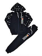 """Спортивный костюм на манжетах LIKEE на девочку 5-8 лет """"Kinder"""" купить оптом в Одессе на 7 км"""