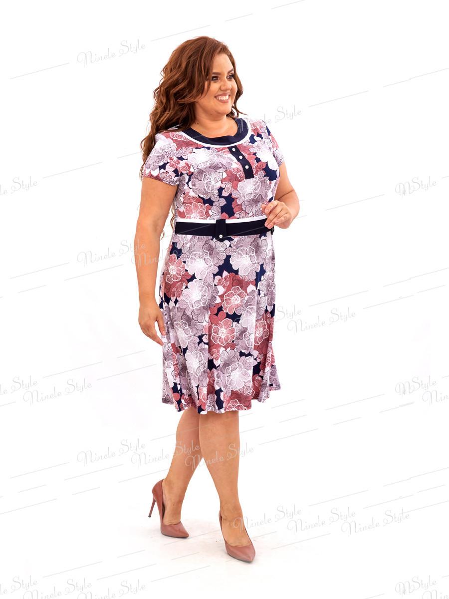 Повседневное платье с цветочным принтом 462