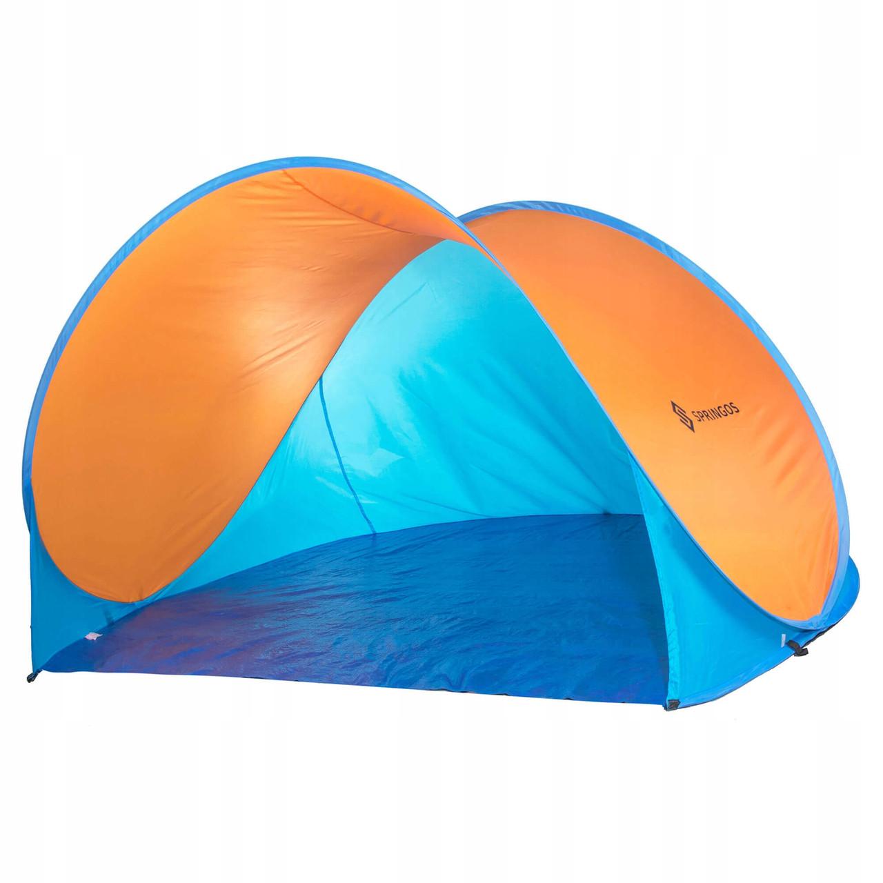 Пляжный тент Springos Pop Up 200 x 120 см PT003 Blue/Orange