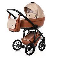 Детская коляска 2 в 1 универсальная для новорожденных Tako Corona Light 03 Светло-коричневый с бежевым