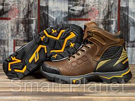 Зимние мужские ботинки 31171, Ecco Natural Motion, коричневые, < 41 > р. 41-27,0см.