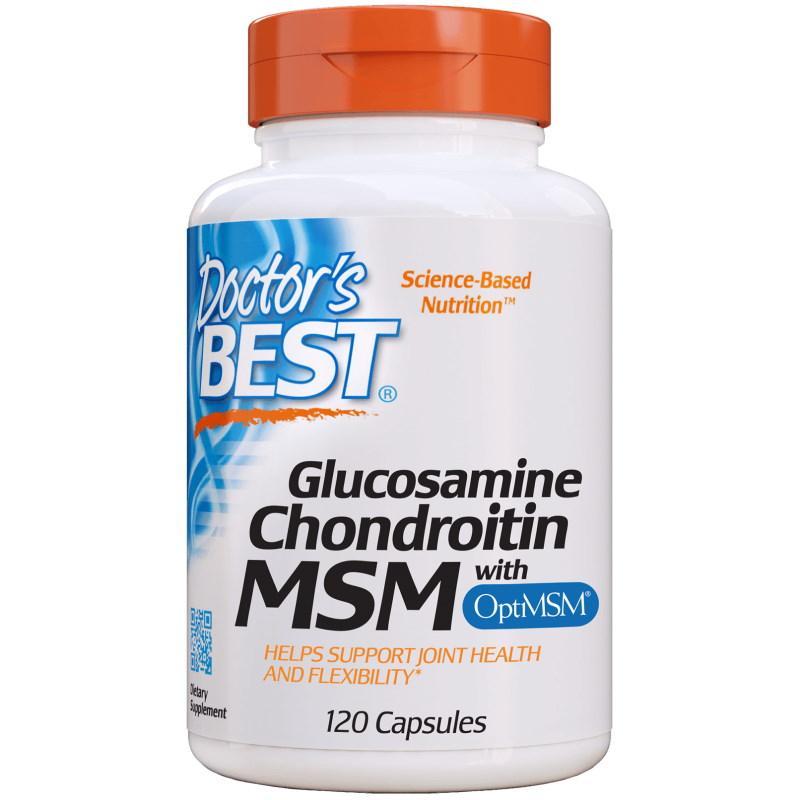 Для суставов и связок Doctor's Best Glucosamine Chondroitin MSM, 120 капсул