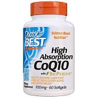 Витамины и минералы Doctor's Best CoQ10 BioPerine 100 mg, 120 капсул
