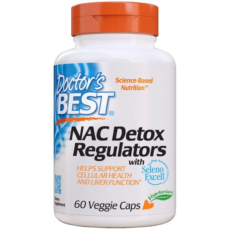 Натуральная добавка Doctor's Best NAC Detox Regulators, 60 капсул