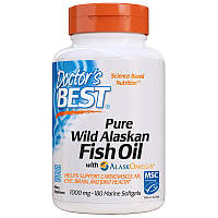 Жирные кислоты Doctor's Best Pure Wild Alaskan Fish Oil with Alask Omega, 180 капсул